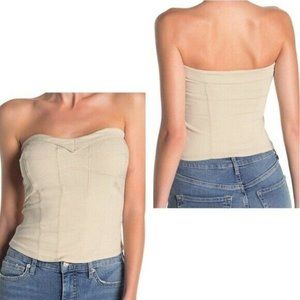 Free people you too tube top sz S in Sand NWT